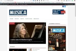 Il sito di MUSICA si fa nuovo per voi