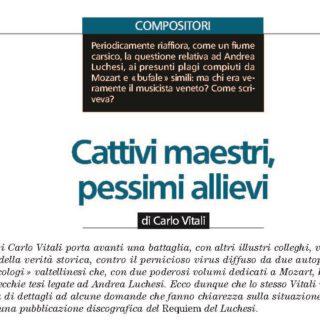 Ancora su Luchesi: una lettera di Massimo Belli